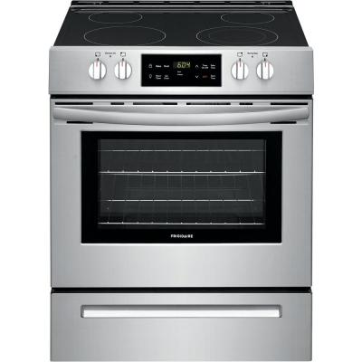 30 in. 5 cu. ft. Front Control Electric Range in Stainless Steel