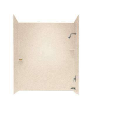 30 in. x 60 in. x 72 in. 3-Piece Easy Up Adhesive Alcove Tub Surround in Bermuda Sand