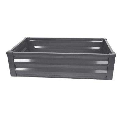 24 in. W x 48 in. L x 12 in. H Antique Iron Pre-Galvanized Powder-Coated Steel Raised Garden Bed Planter