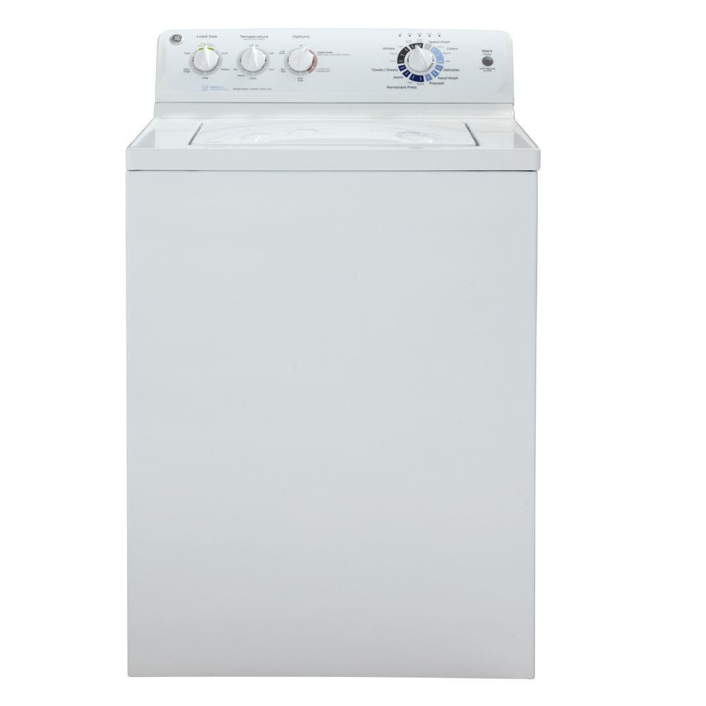 GE 3.9 DOE cu. ft. Top Load Washer in White