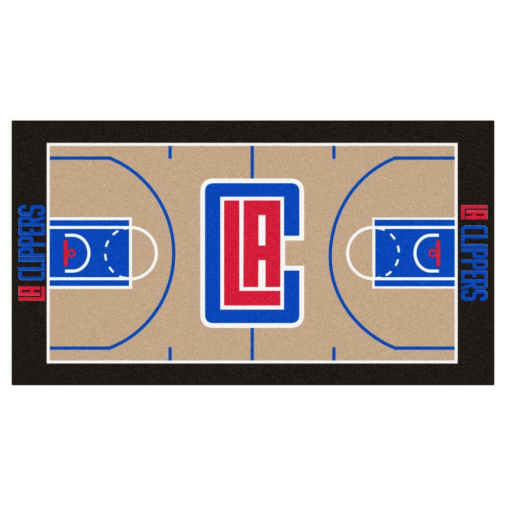 Nuggets X Clippers: FANMATS NBA Los Angeles Clippers Tan 2 Ft. 6 In. X 4 Ft. 6