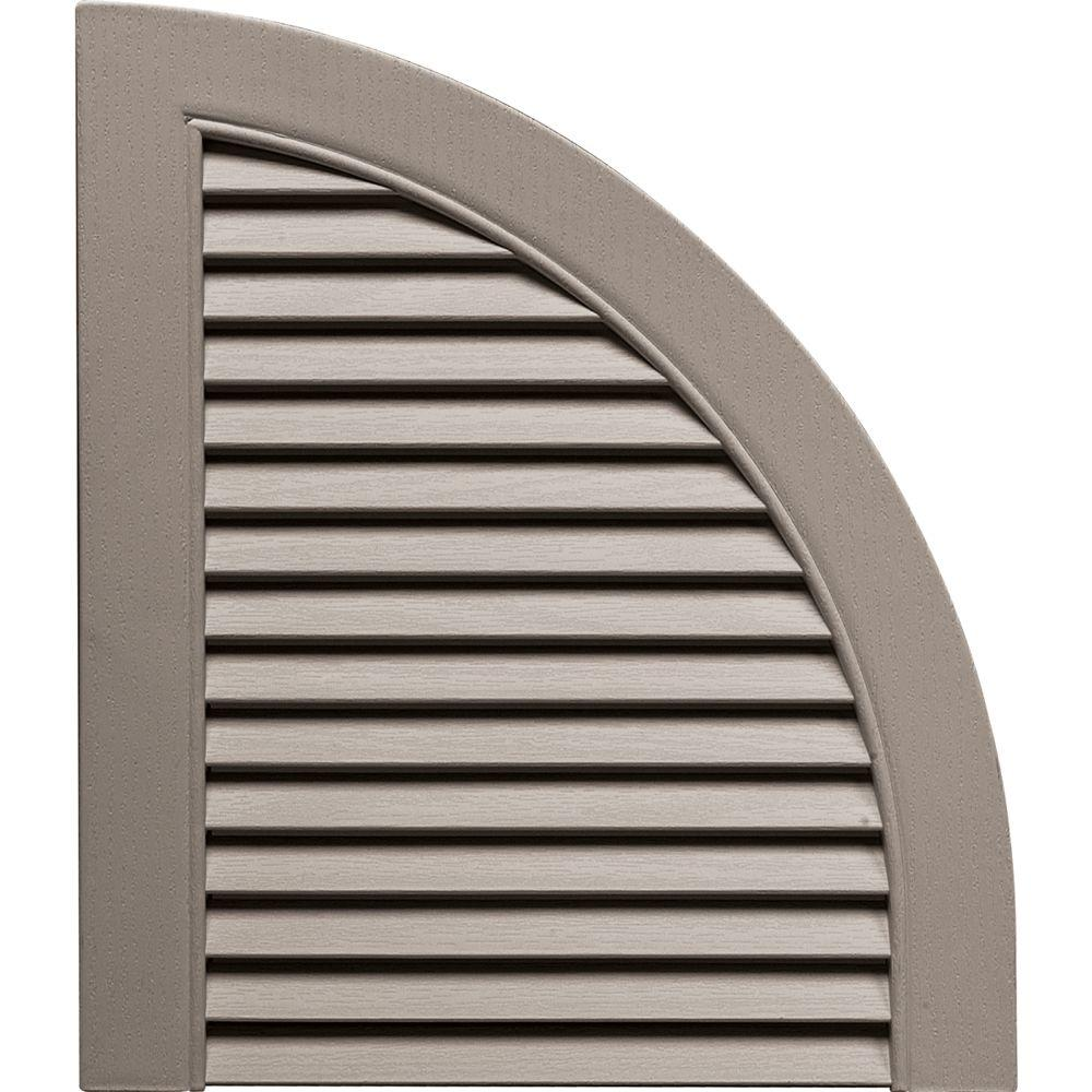 Builders Edge 15 in. x 17 in. Louvered Design Clay Quarter Round Tops Pair #008