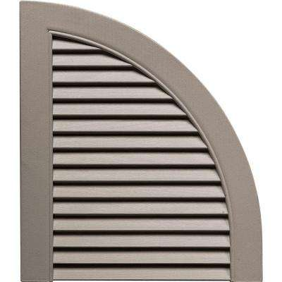15 in. x 17 in. Louvered Design Clay Quarter Round Tops Pair #008