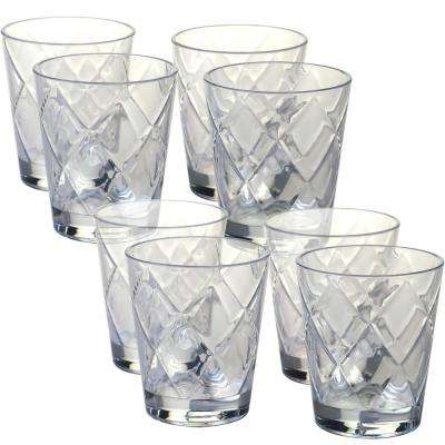 15 oz. 8-Piece Clear Old Fashion Glass