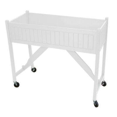 50 in. x 20 in. White Recycled Plastic Commercial Grade Raised Garden Bed