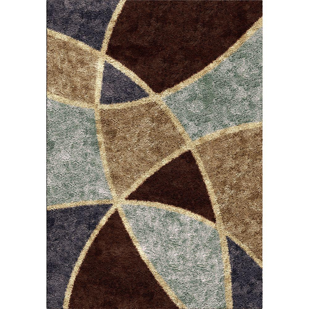 Orian Rugs Divulge Chocolate 5 Ft 3 In X 7 6 Indoor Area Rug 284027 The Home Depot