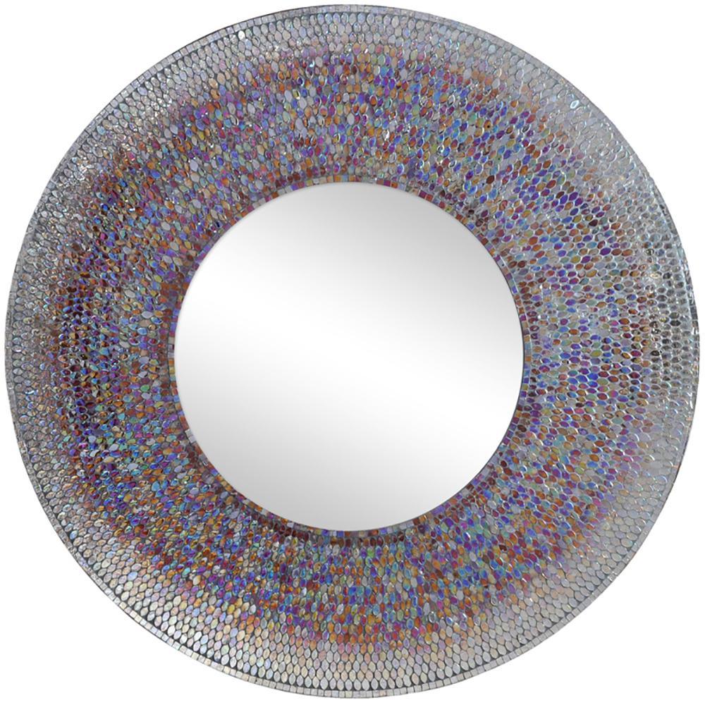 40 round mirror wood frame renwil seychelle 40 in round mirror mirrormt1452 the home