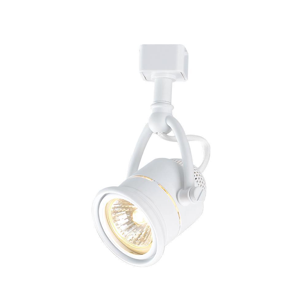 Retro 1-Light White Linear Track Lighting Head
