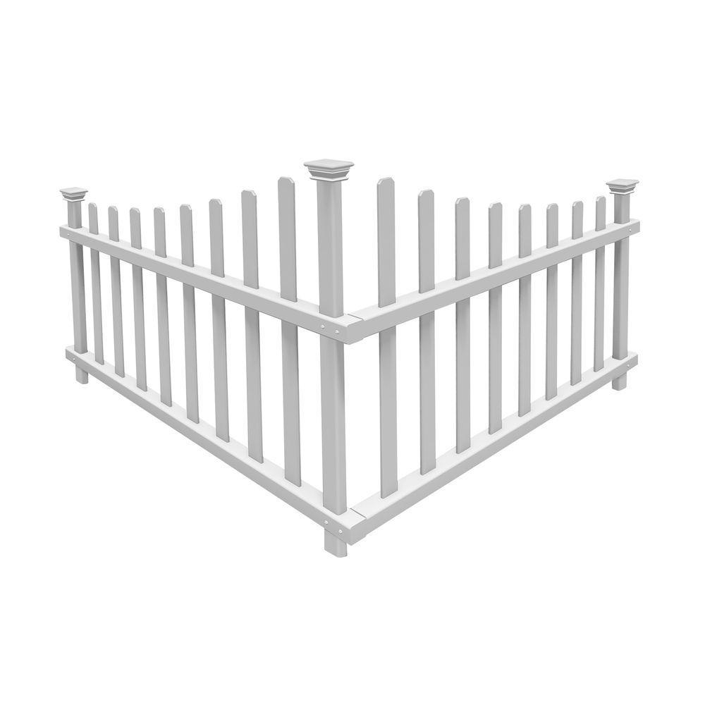 3-26/125 ft. x 2-1/2 ft. Ashley Vinyl Corner Fence Panel Kit