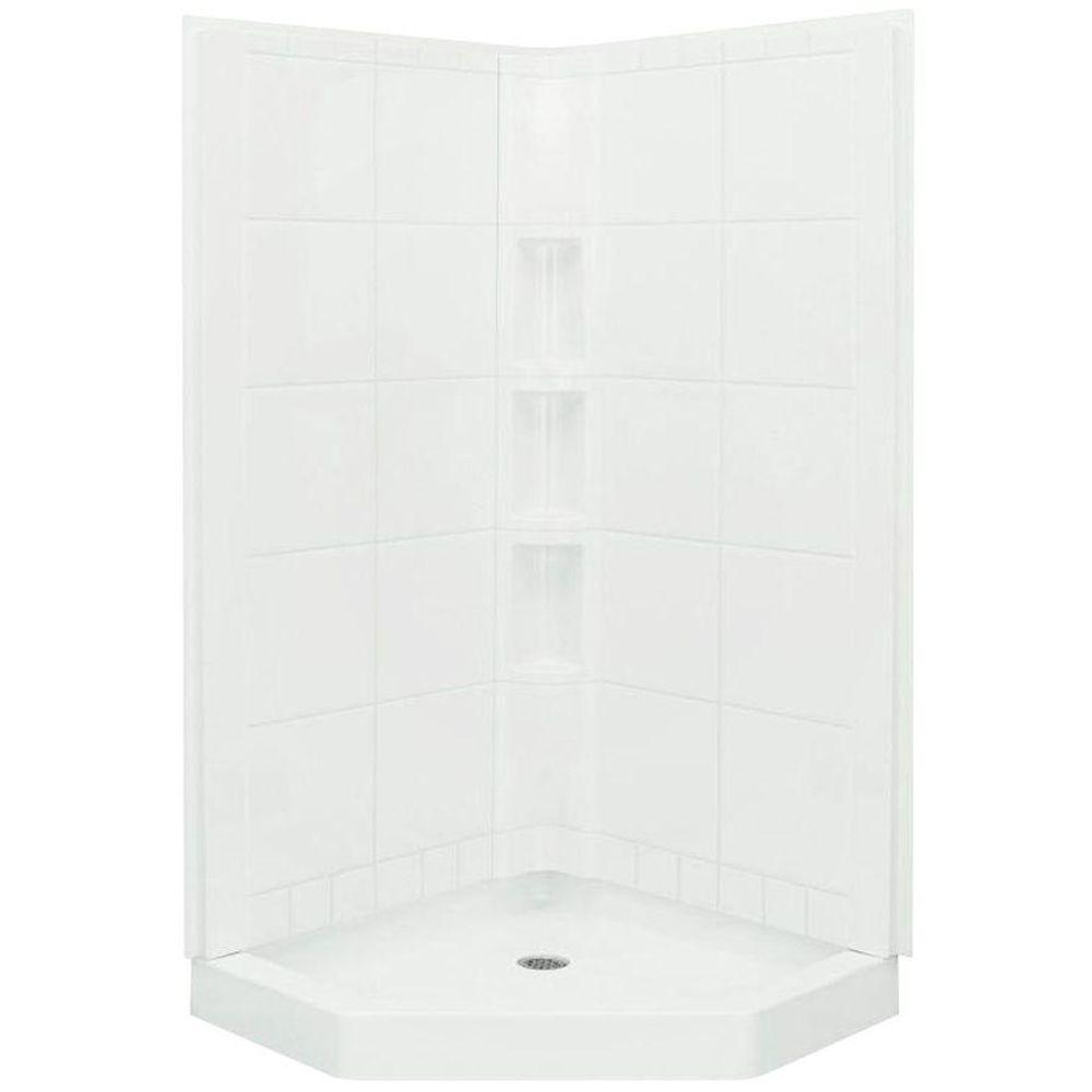 STERLING Intrigue 40-1/4 in. x 40-1/4 in. 78-7/8 in. Shower Kit in ...