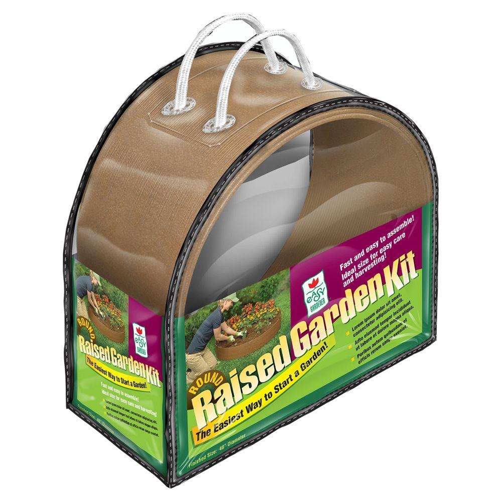 Easy Gardener 48 in. Round Raised Garden Kit