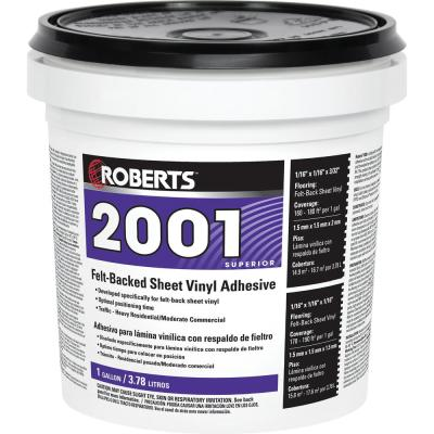 2001 1 Gal. Felt-Backed Sheet Vinyl Flooring Adhesive