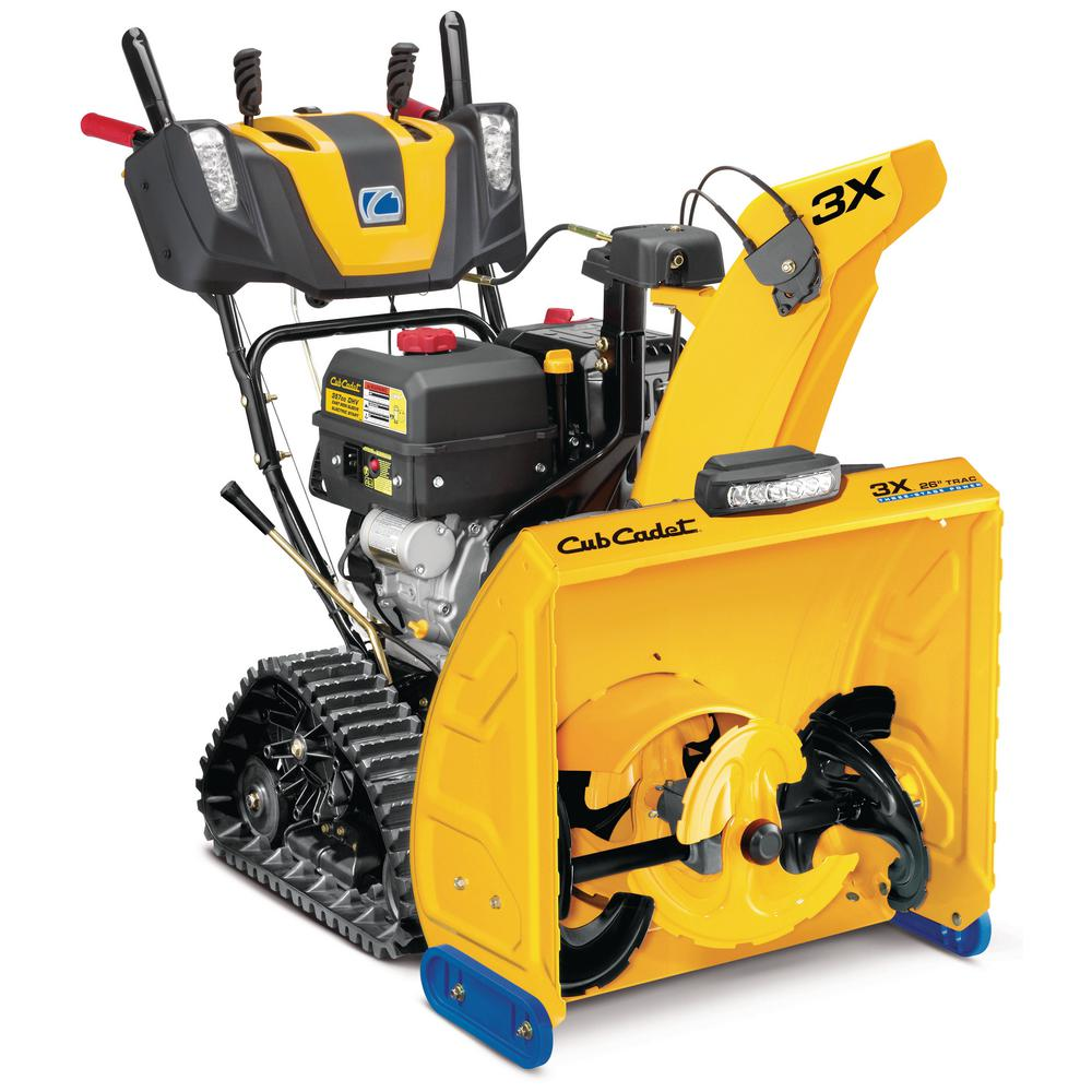 Cub Cadet 3X 26 in. 357cc Track Drive Three-Stage Electric Start Gas Snow Blower with Steel Chute Power Steering Heated Grips