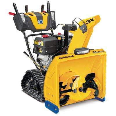 3X 26 in. 357cc Track Drive Three-Stage Electric Start Gas Snow Blower with Steel Chute Power Steering and Heated Grips