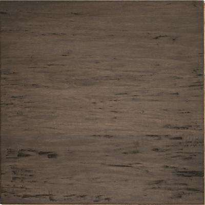Hand Scraped Strand Woven Warm Grey 1/2 in. T x 15-3/8 in. W x 15-3/8 in. L Engineered Click Bamboo Tile Flooring