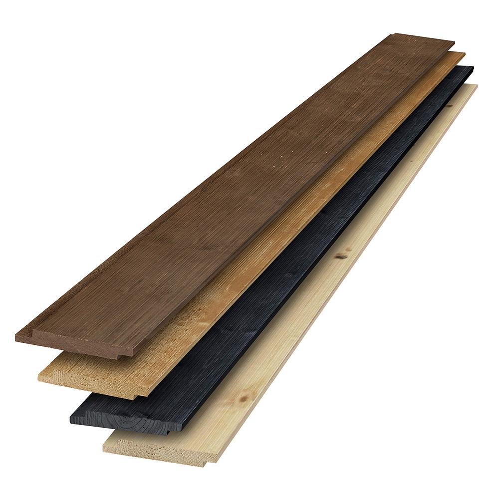 1 in. x 6 in. x 6 ft. Barn Wood Brown-Tone Multicolor Shiplap Kit (6-Pack)