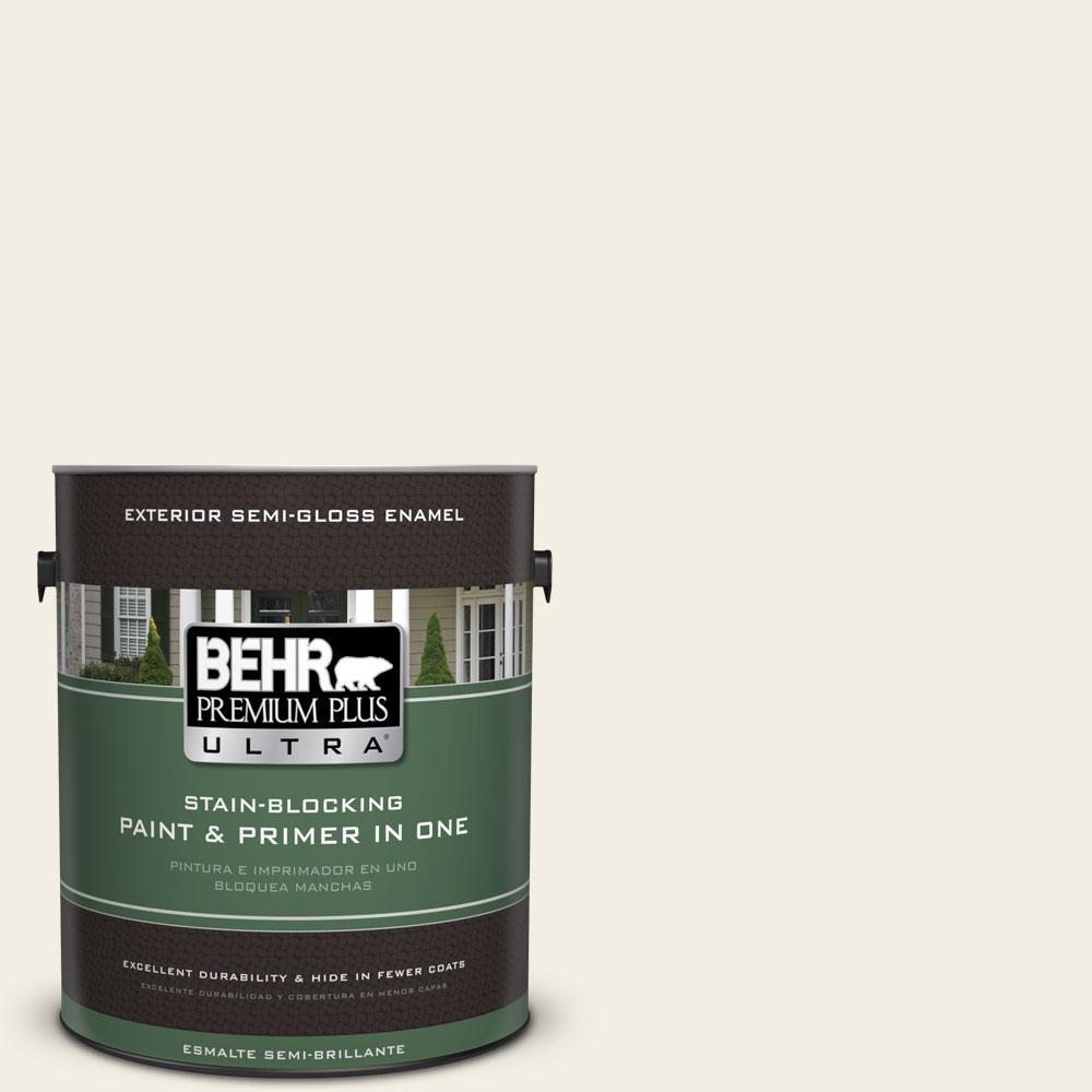 BEHR Premium Plus Ultra 1-gal. #760C-1 Toasted Marshmallow Semi-Gloss Enamel Exterior Paint