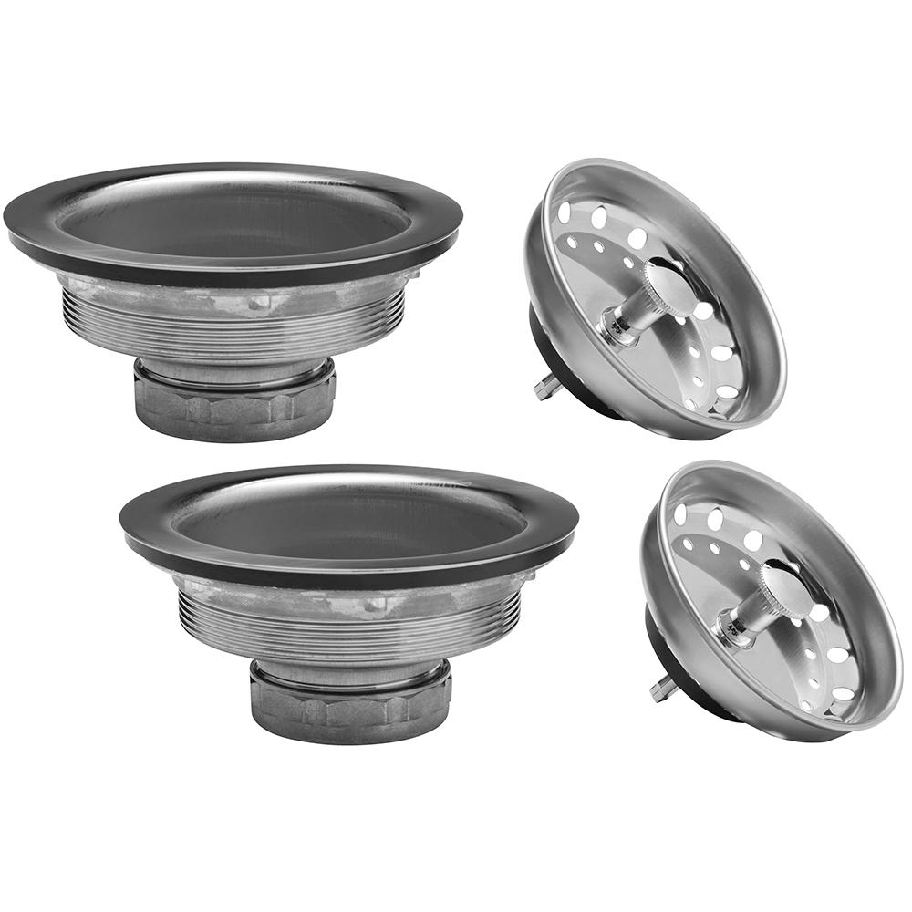 Glacier Bay Standard Post Sink Strainer In Stainless Steel 2 Pack