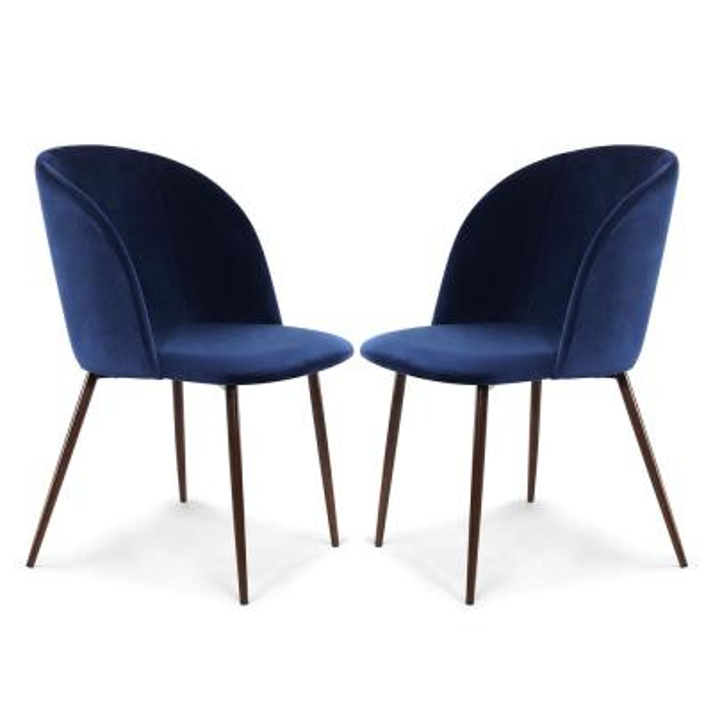 Kantwell Space Blue Velvet Dining Chair (Set of 2)