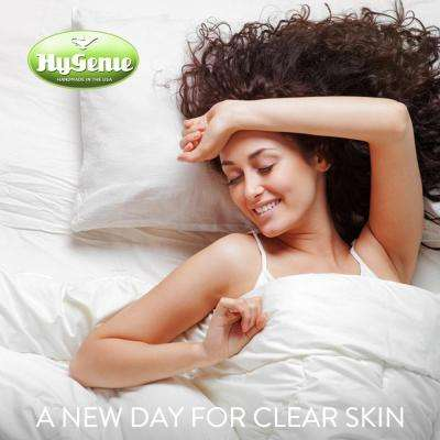 Hygenie Acne-Fighting White Ionic Silver-Embedded Cotton Queen Pillowcase