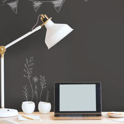 28.18 sq. ft. Chalkboard Black Peel and Stick Wallpaper