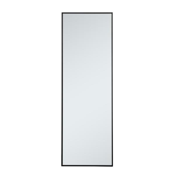 Large Rectangle Black Modern Mirror (60 in. H x 20 in. W)