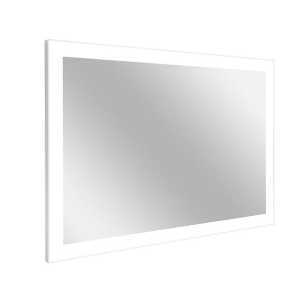 Large Rectangle White LED Lighted Modern Mirror (40 in. H x 60 in. W)