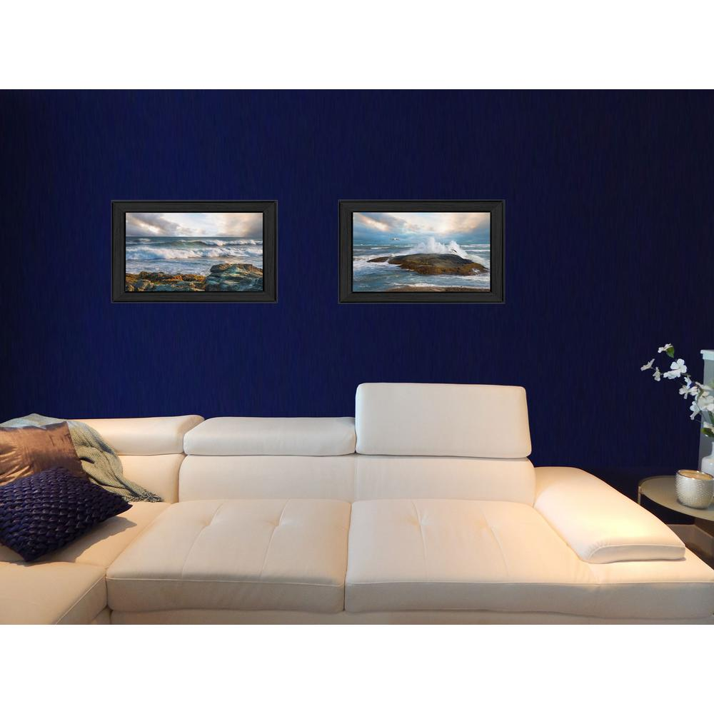 11 In. X 15 In. Whitecaps Collection By Robin Lee Vieira, Printed Framed Wall Art