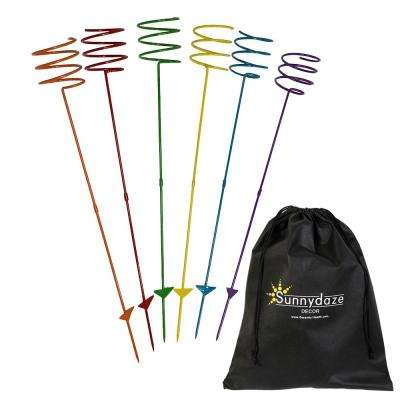 Heavy-Duty Multi-Colored Outdoor Drink Holder Stakes (Set of 6)