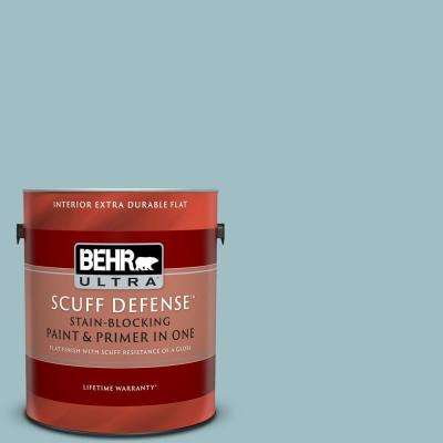 1 gal. #PPU13-11 Clear Vista Extra Durable Flat Interior Paint and Primer in One