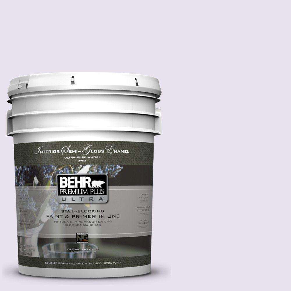 5-gal. #640A-1 Soft Iris Semi-Gloss Enamel Interior Paint