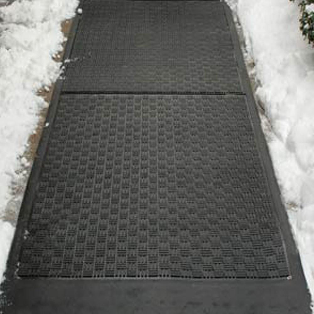 Heated floor rug home design for Best doormat for snow