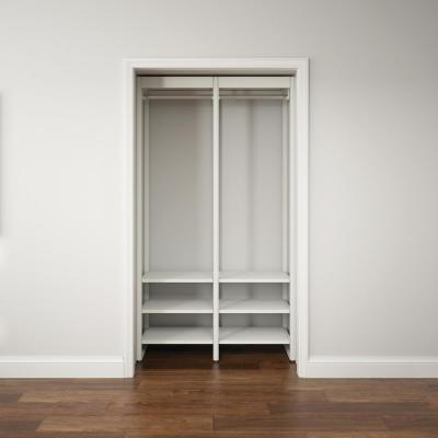 46.5 in. W White Adjustable Tower Wood Closet System with 8 Shelves