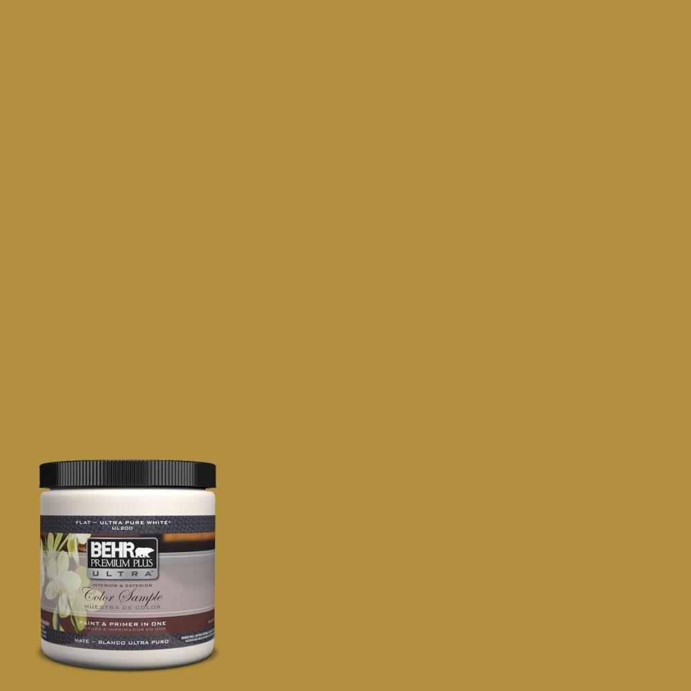 #370D 7 Venetian Gold Matte Interior/Exterior Paint And Primer In One  Sample 370D 7U   The Home Depot