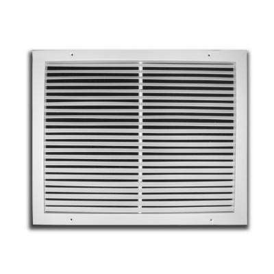 16 in. x 16 in. White Fixed Bar Return Air Grille