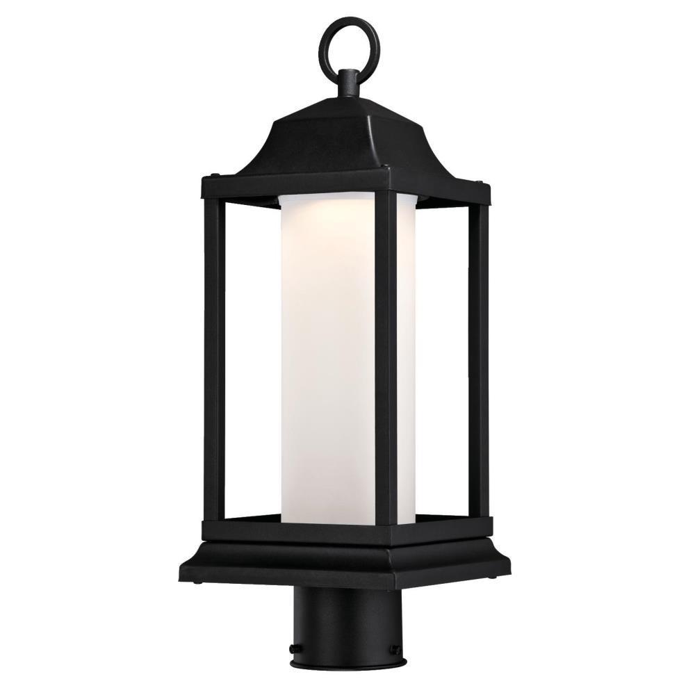 Honeybrook 1-Light Textured Black Outdoor Integrated LED Post Light