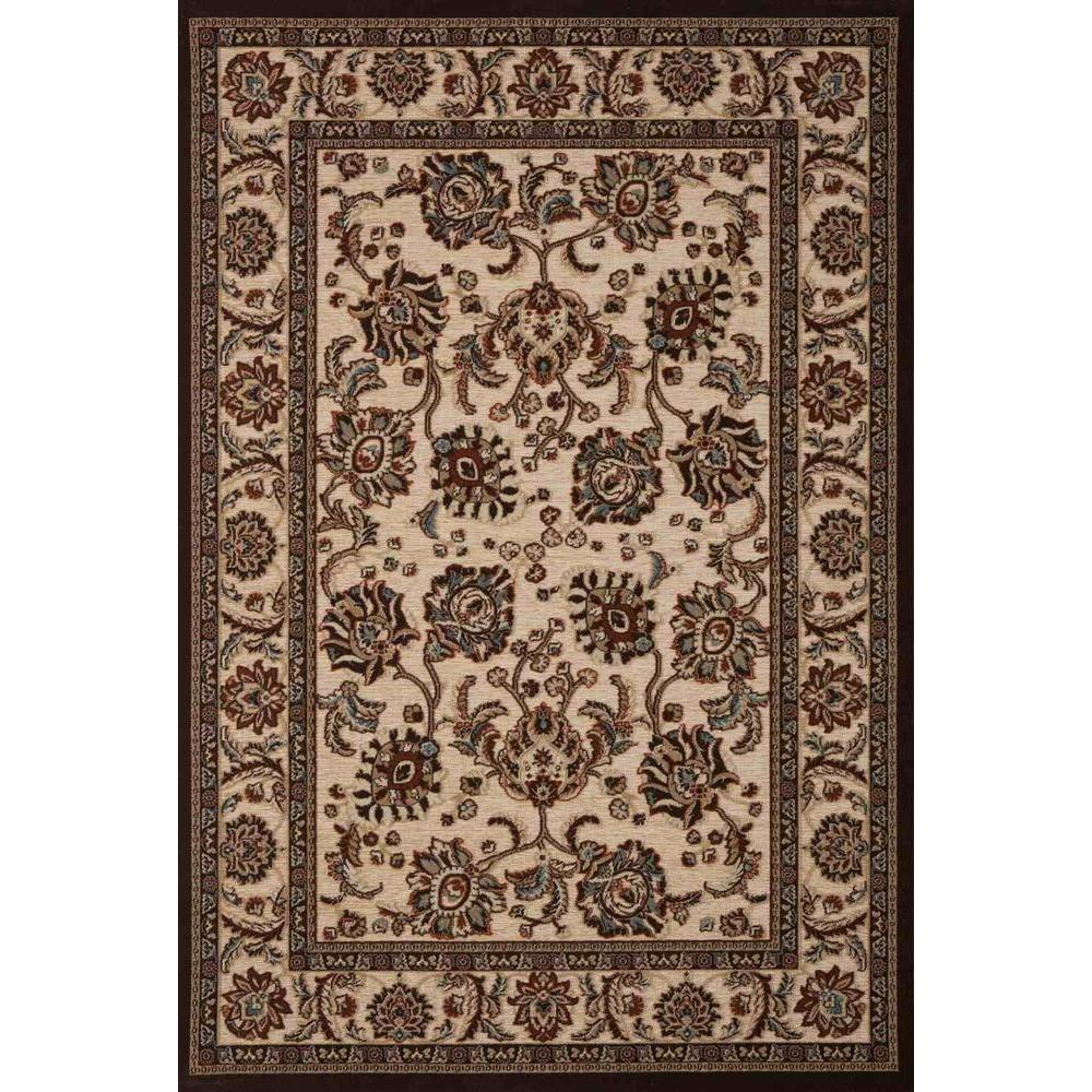 Concord Global Trading Milano Palmets Beige 5 ft. x 7 ft. Area Rug