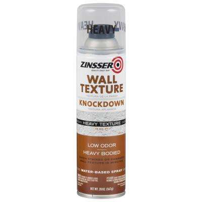 20 oz. Water-Based Bright White Heavy Knockdown Wall Texture Spray (6-Pack)