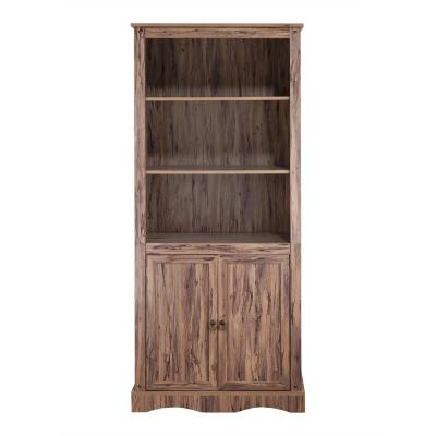 Simplicity 72 in. Maple Wood 5-shelf Standard Bookcase with Doors