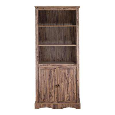Wren Maple Veneer Simplicity Bookcase with 3-Shelves and 2-Doors