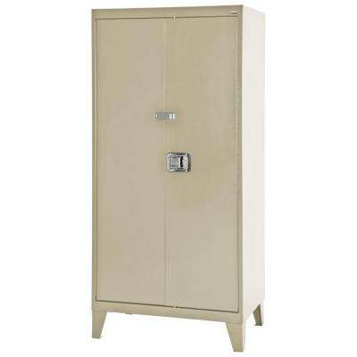 79 in. H x 36 in. W x 18 in. D Freestanding Steel Cabinet in Putty