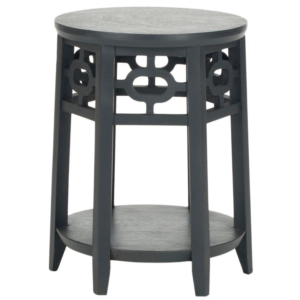 Adela Charcoal Gray Side Table