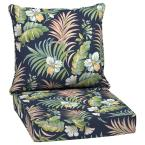 24 in. x 22.5 in. Simone Tropical Outdoor 2-Piece Deep Seating Lounge Chair Cushion