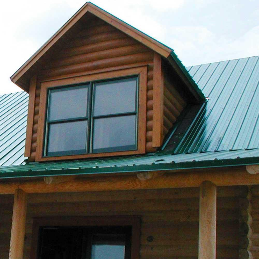 Gibraltar Building Products 8 Ft Sm Rib Galvanized Steel 29 Gauge Roof Panel In Forest Green 13561 The Home Depot