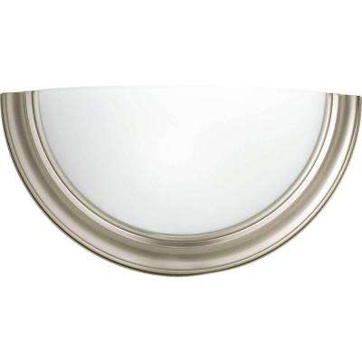 Eclipse Collection 1 Light Brushed Nickel Fluorescent Sconce
