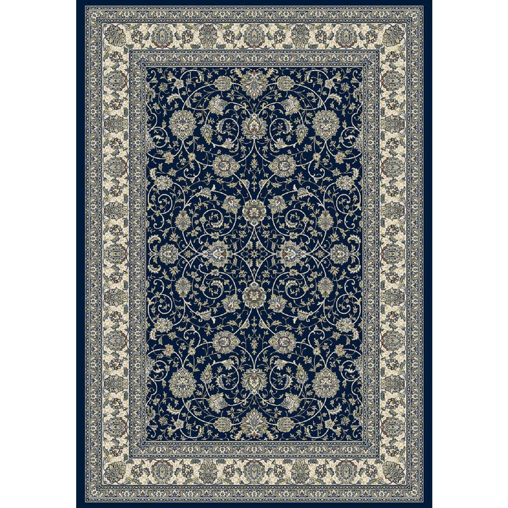 Dynamic Rugs Ancient Garden Navy 2 Ft X 4 Ft Indoor Area