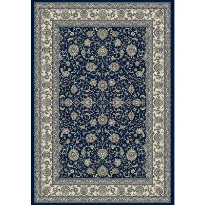 Ancient Garden Navy 7 ft. 10 in. x 11 ft. 2 in. Indoor Area Rug