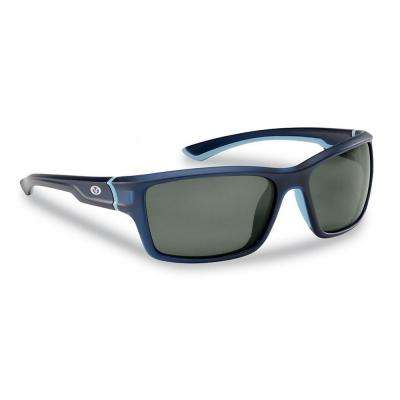 Cove Polarized Sunglasses Matte Crystal Navy Frame with Smoke Lens