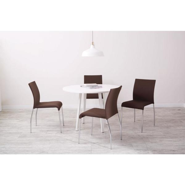OSP Home Furnishings Conway Chocolate Fabric Stacking Chairs (Set of 4)