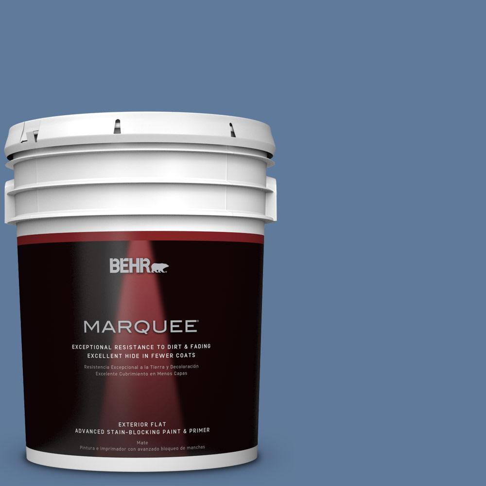 BEHR 5-gal. #PPU14-2 Glass Sapphire Flat Exterior Paint